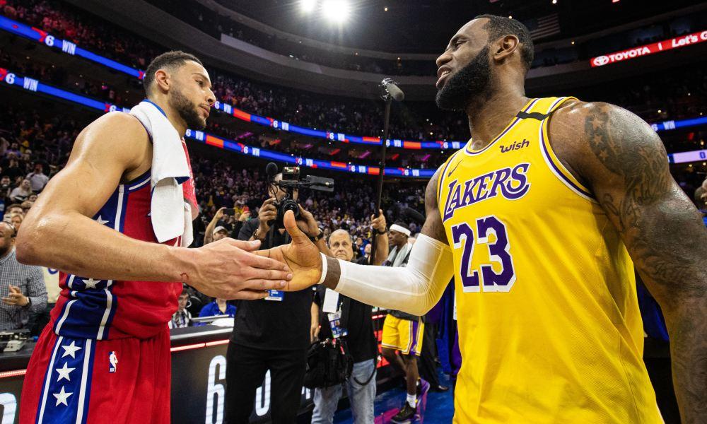 بسکتبال NBA / لس آنجلس لیکرز / فیلادلفیا سونی سیکسرز
