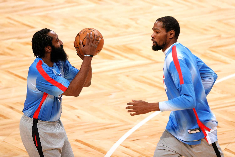 جیمز هاردن - کوین دورنت - بورکلین نتس - بسکتبال NBA