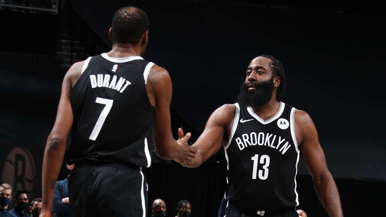 Kevin Durant - James Harden - brooklyn Nets - NBA Games