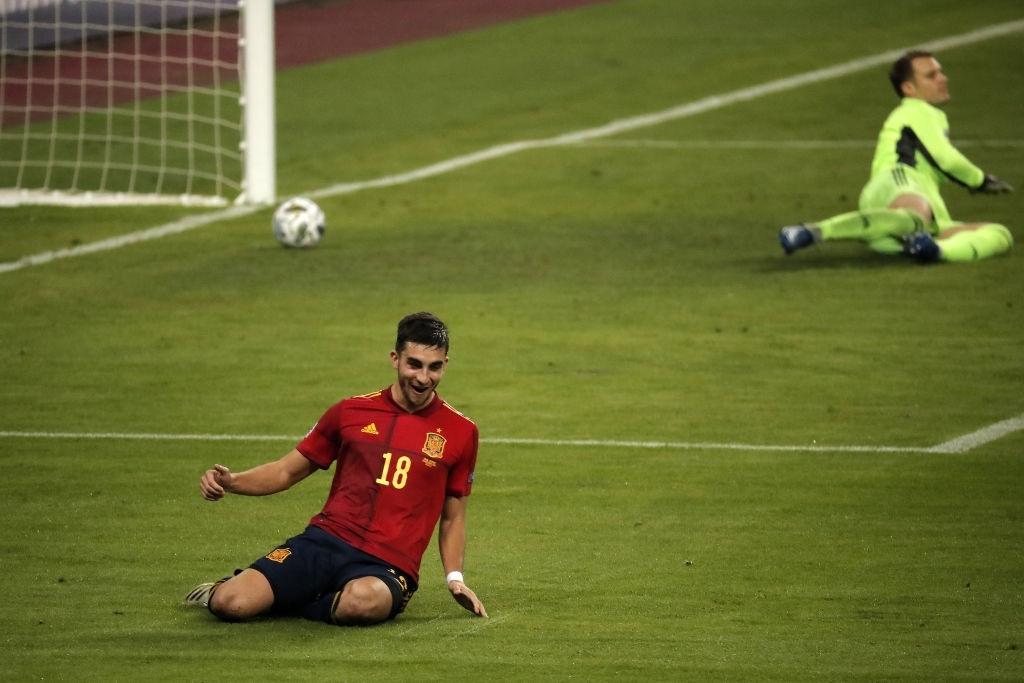 تیم ملی اسپانیا / لیگ ملت های اروپا / هت تریک مقابل آلمان